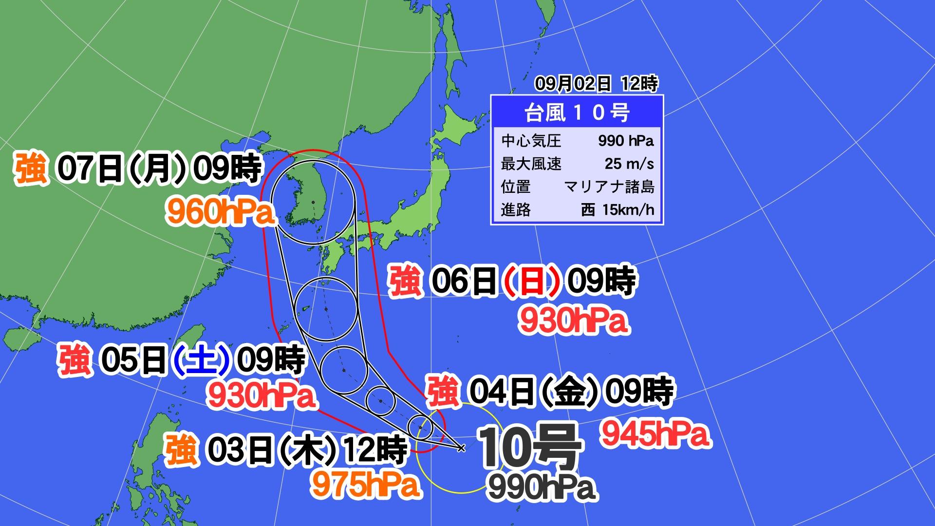 台風10号がヤバすぎる